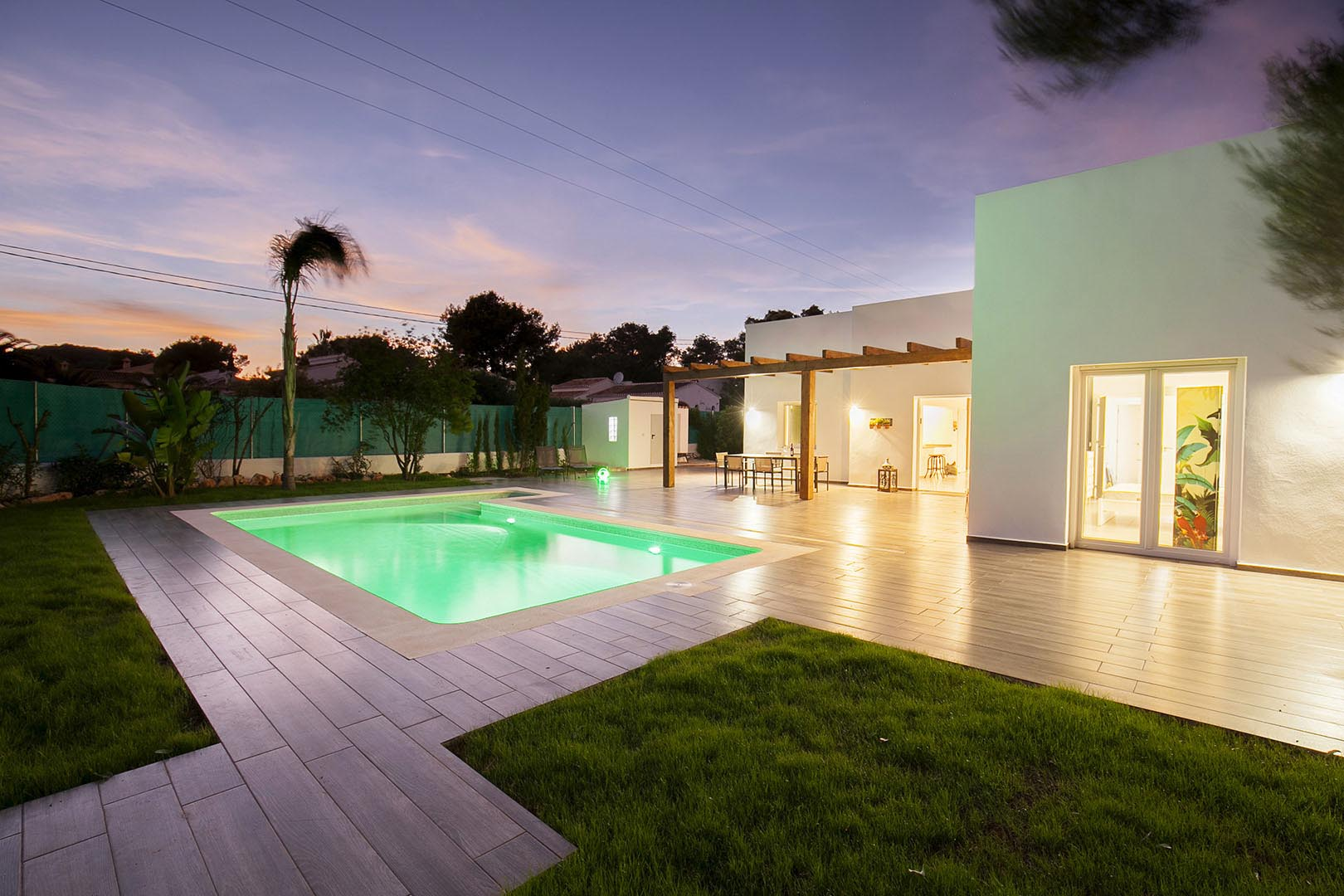 Modern holiday homes with private pool.