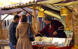 Market stand at the festivities in Denia
