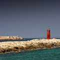 Lighthouse at the marina of Denia