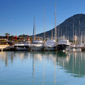The Marina and Montgo mountain in Denia