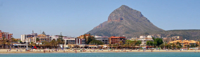 The Arenal beach with the Montgo mountain in Javea - Costa Blanca – Spain