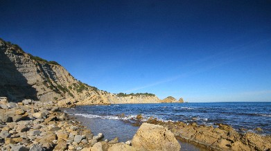 The beach La Barraca in Javea