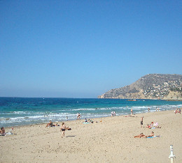 Sandy beach Calpe